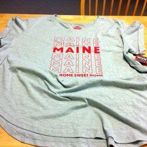 Maine Home Sweet Home tee, ladies 3X